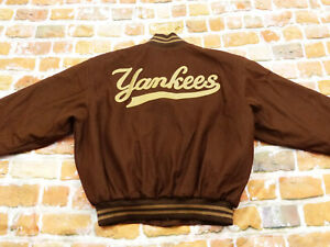 New York Yankees College Baseball Jacket Vintage Starter JH Design Size: L Like