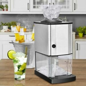 Professional Bar Electric Stainless Steel Ice Crusher Shaver Maker Machine New