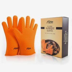 Silicone Heat Resistant Grill Gloves 2 Pack