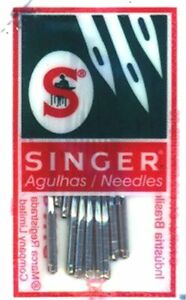 Singer 2045 Sewing Machine Needles Knits Ball Point 130 705H S.10 pkg Size 14 $6.50