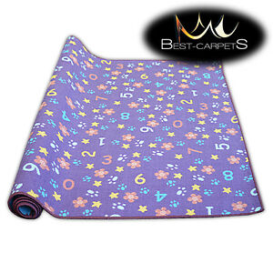 Fitted carpet for kids NUMBERS Width 200, 400 cm extra long