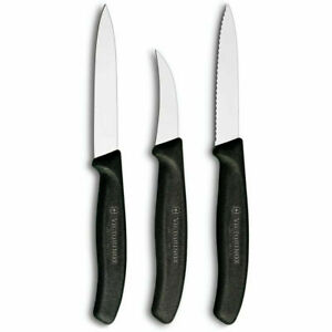 Victorinox Classic   Swiss Paring Knife Set - Stainless Steel - 3 Pieces