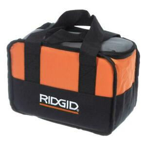 NEW RIDGID TOOL BAG 10X7X5 CARRYING CASE FOR 18 VOLT DRILL/IMPACT BATTERY