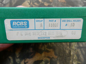 RCBS Full Length Reloading Die Set 222 Remington Mag #11001