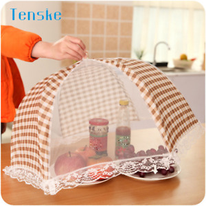 Kitchen Folded Food umbrella Food Dish Cover for Picnic Outdoors New