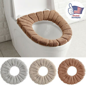 O-Type Toilet Seat Closestool Cover Mat Washable Soft Warmer Lid Cushion Pad US