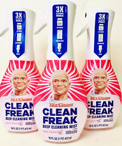 3 Bottles Mr Clean 16 Oz Clean Freak Wild Flower 3X Deep Cleaning Mist Spray