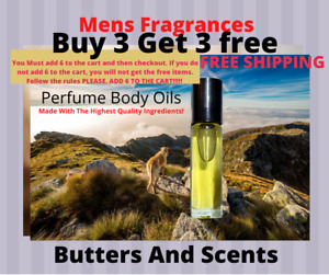Cologne Body Oils For Men Pick Your Fragrance No Alcohol Uncut 1 3oz Roll On $6.95