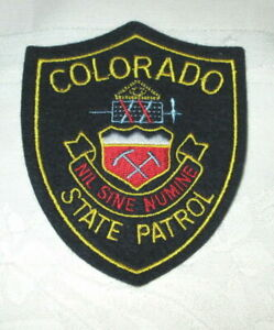 **Large COLORADO STATE PATROL PATCH NEW** $6.99
