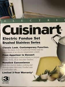 Cuisinart CFO-3SS Electric Fondue Set (Brushed Stainless Steel)