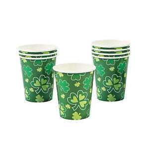 St. Patrick#x27;S Day Rainbow Paper Cups Party Supplies 8 Pieces