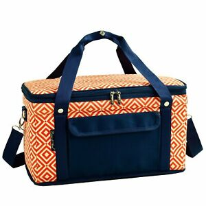 (D) Leakproof 24 Hour Cooler Picnic Backpack Bag for Outdoor (Orange)