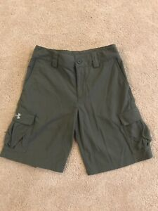 Under Armour Boys Golf Cargo Shorts Army Green Size Youth Medium $17.99