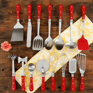 The Pioneer Woman Frontier Collection 15-Piece All in One Kitchen Utensil Set,