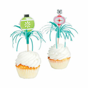 Mod & Merry Food Picks - Party Supplies - 12 Pieces