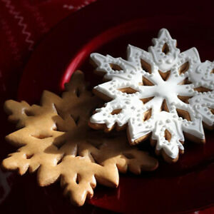 New Stainless Steel Snowflake Cookie Cutter Biscuit Pastry Cake Mold Baking Tool