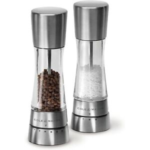 Cole & Mason H59408GUSA Derwent Salt & Pepper Mill Grinder Set, Stainless Steel