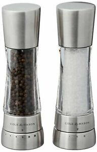 Cole & Mason H59408GUSA Derwent Salt Mill Stainless Steel NWT