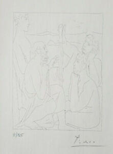 PABLO PICASSO HAND SIGNED NUMBERED 1962 MONCHROME LITHOGRAPH + NO RESERVE !