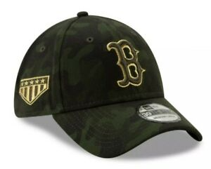 BOSTON RED SOX ARMED FORCES DAY RARE 39THIRTY HAT CAMOUFLAGE CAP