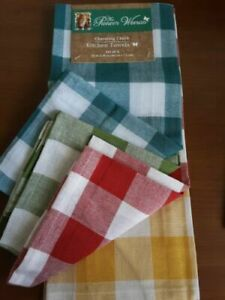 The Pioneer Woman, 4 Pack, Charming Check Kitchen Towels  (XC)