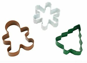 Christmas Holiday 3 pc Metal Cookie Cutter Set from Wilton #1266
