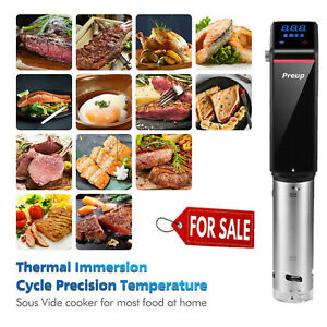 Sous Vide Precision Cooker Immersion Circulator Display Stainless Steel w/Timer