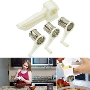 Manual 3in1 Vegetable Slicer Chocolate Cheese Shredder Rotary Drum Grater Tool P