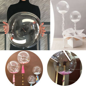 10 PCS PVC Transparent Bobo Balloon Light Wave Ball Wedding Birthday Party Decor