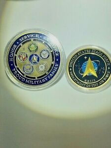GOLDEN RARE Unique USA U.S. Space Force  6 Military Branches w Space Force $18.99