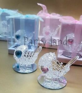 12 Crystal Carriage Baby Shower Favors Girl & Boy Party Favors