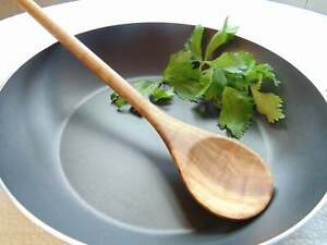 Olive Wood Round Spoon 12 Inch Wooden Kitchen Cooking Serving Serving Spoon