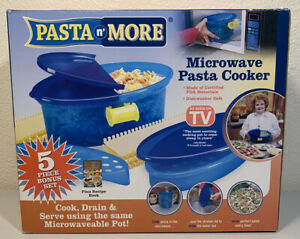 Pasta N More Emson 5-in-1 Nonstick Microwave Cooker As Seen On TV New Blue