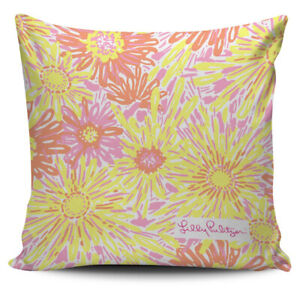 Sunkissed Lilly Pulitzer Pattern Pillow Cover Cushion Sofa Case
