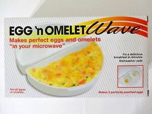 Egg and Omelet Wave Microwave Cooker Poaching Insert Plastic Non Stick NIP