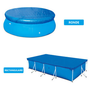 Round Rectangular Swimming Paddling Pool Cover Protection UV-resistant Dustproof
