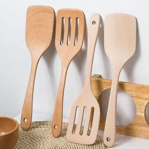Wooden Utensil Cooking Tools Spatula Kitchen Spoon Set Long New Soup Brown Gift