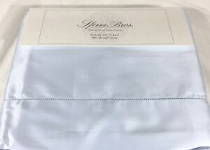 Light Blue QUEEN Sheet Set 100% LONG STAPLE Cotton Sferra Italian Sateen 300TC