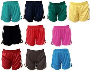 Womens Under Armour Heat Gear Loose Fit Athletic Shorts Red Blue Purple S XL $15.95