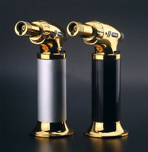 Butane Torch AT-600 Stainless Steel Lighter Flame Gold