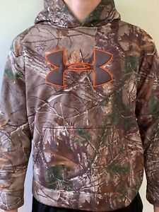 Under Armour Camo Sweatshirt Hoodie Boys Youth L $9.00