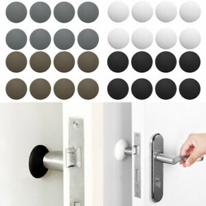 12xRubber Self Adhesive Door Knob Stopper Bumper Handle Guard Wall Protector 4cm