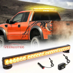 Traffic Advisor Amber Roof Top 30 LED Emergency Strobe Light Bar Beacon Magnetic