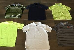 lot of 3 boy yxl loose fit under armour polo shirt Golf TW Nike Kids Youth $34.99