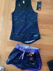 Under Armour Kids Girls Youth Size XS Shorts & Tank Top NWT $39.99