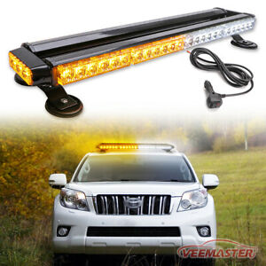 Led Emergency Warning lights Amber White Strobe Light Bar Roof Traffic Advisor