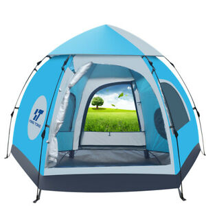 Waterproof Automatic 5 6 People Outdoor Instant Popup Tent Camping Hiking Canopy