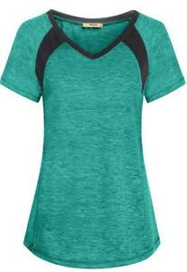 Miusey Womens Short Sleeve Running Shirts Loose Fit Sport Activewear Workout Top $18.90