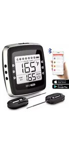 POVO Wireless Meat Bluetooth Digital BBQ Grill Thermometer with 2 Stainless P...