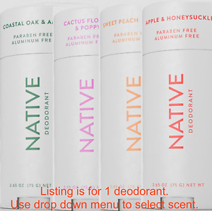 NEW Native Deodorant SUMMER SCENTS APPLE HONEYSUCKLE, PEACH NECTAR, CACTUS POPPY